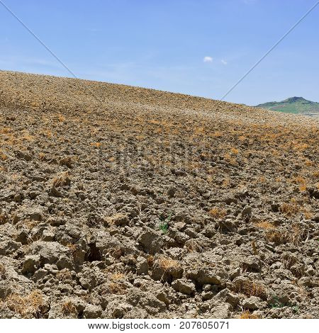 Plowed Fields on the Sloping Hills of Sicily