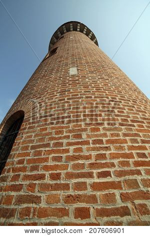Tower Of The City Aqueduct In The Island Of Burano Near Venice