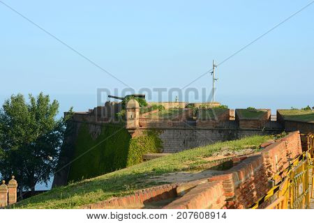 Castell de MontJuïc (Montjuic Castle) at the top of Montjuic, Barcelona, Catalonia, Spian.