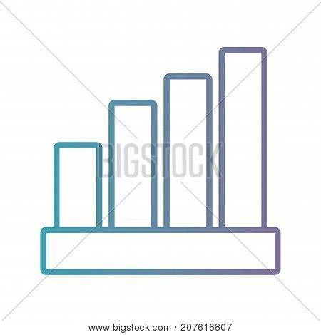 line statistics diagram bar to histogram vector illustration