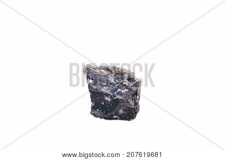Obsidian From Indonesia Isolated On White