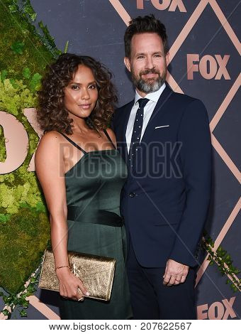 LOS ANGELES - SEP 25:  Lesley-Ann Brandt and Chris Payne Gilbert arrives for the FOX Fall Party on September 25, 2017 in West Hollywood, CA
