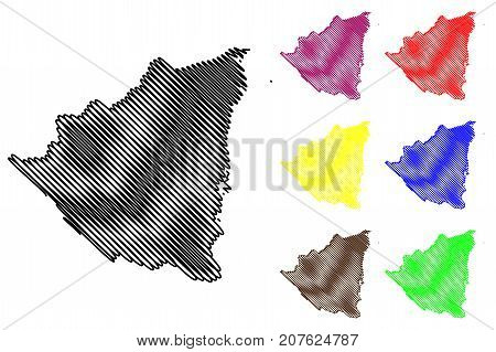 Nicaragua map vector illustration , scribble sketch Nicaragua