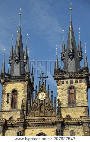 Praga Czechy stolica kościół bazylika turyści kolebka