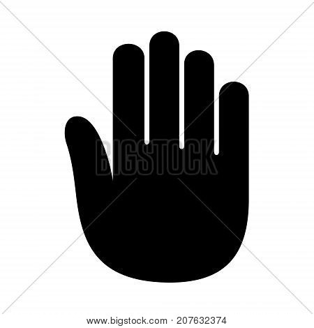 Hand open palm hello logo icon. Simple illustration of hand vector illustration for print or web design.