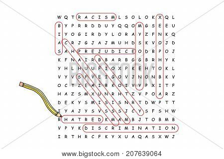 Finding Hidden Hatred Word Search Puzzle