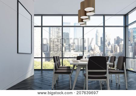 Dining Room, Black Chairs, Side