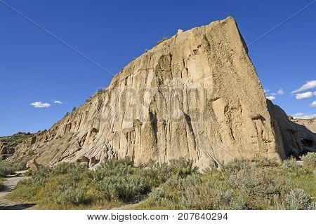 Dramatic Ridge in the Badlands in Theodore Roosevelt National Park in North Dakota