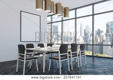 Dining Room, Black Chairs, Corner