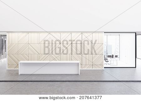 White Reception, Wooden Ceo Office
