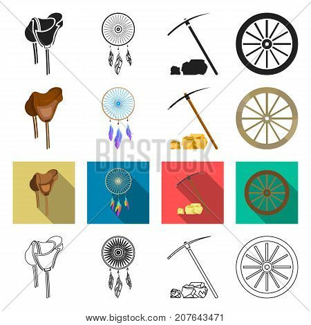 gold, fever, history and other  icon in different style., travel, wild, west icons in set collection