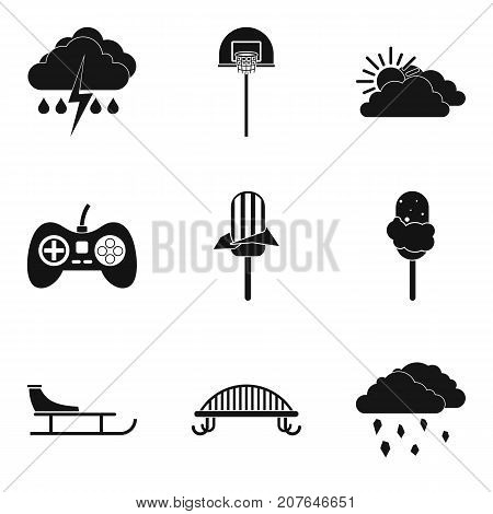 Stay home icons set. Simple set of 9 stay home vector icons for web isolated on white background