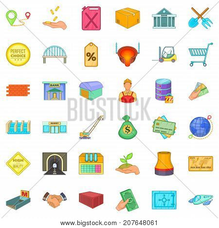 Perfect choice icons set. Cartoon style of 36 perfect choice vector icons for web isolated on white background