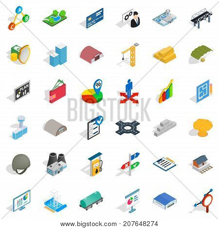 Strong economy icons set. Cartoon style of 36 strong economy vector icons for web isolated on white background