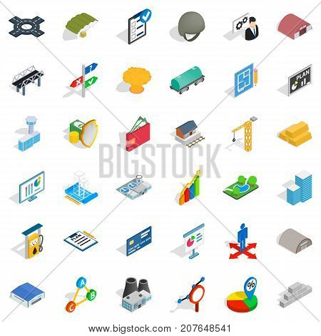 Right choice icons set. Isometric style of 36 right choice vector icons for web isolated on white background