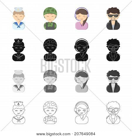 Profession, vocation, hobby and other  icon in cartoon style.Grouping, clothing, textiles, icons in set collection