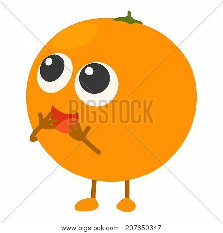 Orange icon. Cartoon illustration of orange vector icon for web