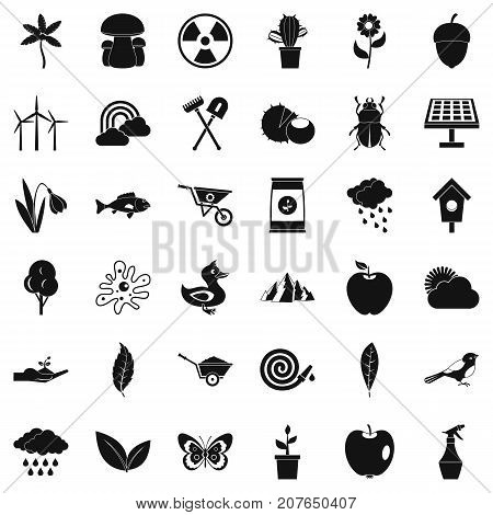 Cultivated tool icons set. Simple style of 36 cultivated tool vector icons for web isolated on white background