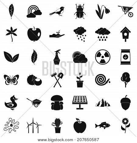 Windmill icons set. Simple style of 36 windmill vector icons for web isolated on white background