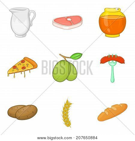 Sandwich roll icons set. Cartoon set of 9 sandwich roll vector icons for web isolated on white background