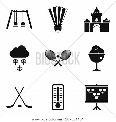 Responsibility for children icons set. Simple set of 9 responsibility for children vector icons for web isolated on white background