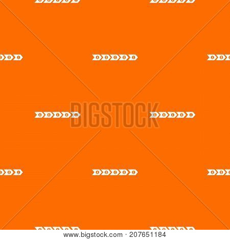 Step by step infographic pattern repeat seamless in orange color for any design. Vector geometric illustration