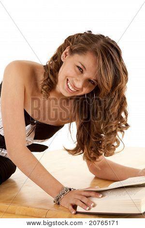 Close Up Book Girl