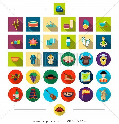 Cosmetics, care, hygiene and other  icon in cartoon style. Clothing, attributes, food, icons in set collection