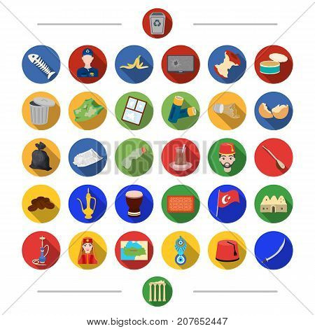 Waste, ecology, nature and other  icon in cartoon style.Turkey, attributes, tourism, icons in set collection