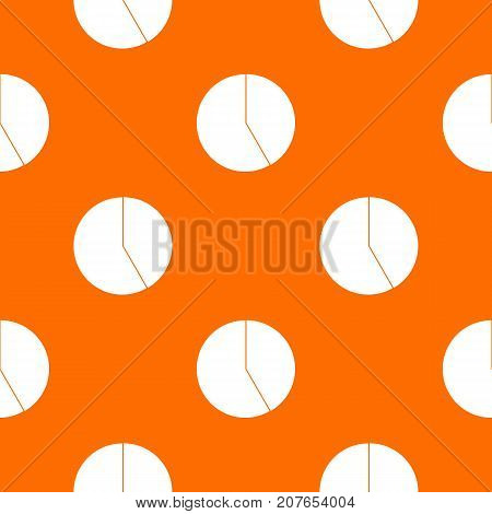 Abstract pie chart for business pattern repeat seamless in orange color for any design. Vector geometric illustration