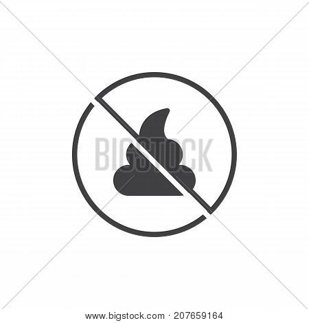 No poo icon vector, filled flat sign, solid pictogram isolated on white. Symbol, logo illustration.