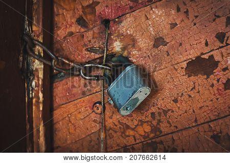 Key Lock Door Rusty.