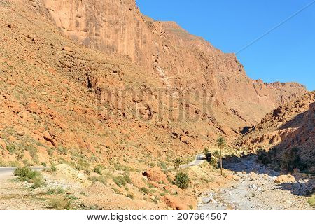 Road To Todgha Gorge In Morocco
