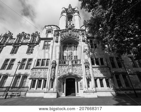 Supreme Court In London Black And White