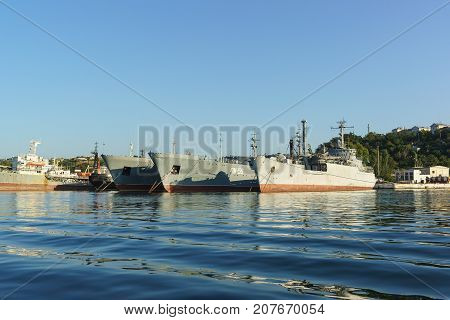 Auxiliary Vessels Of The Black Sea Fleet For Maintenance And Repair Of Warships. The Quarantine Bay