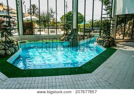 Swimming Pool In The Hotel Lobby