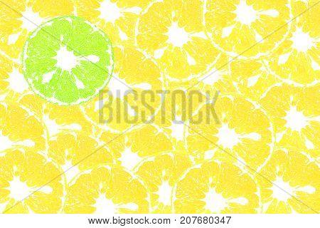 Color art of orange slices for background or wallpaper