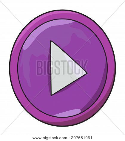Cartoon image of Play button icon. Play symbol. An artistic freehand picture.