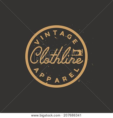 Minimal vintage logo or badge. Apparel logo. Clothing label. Elegant and simple retro apparel badge