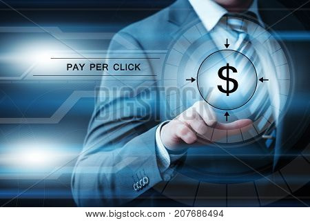 PPC Pay Per Click Advertising Marketing Business Internet Technology Concep.