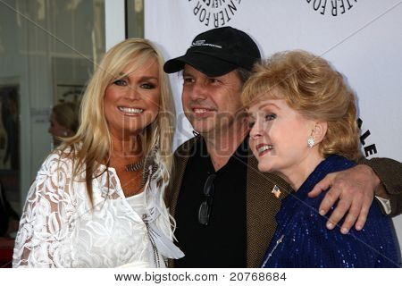 LOS ANGELES - JUN 7:  Catherine Hickland, Todd Fisher, Debbie Reynolds arrive at the Debbie Reynolds Memorabilia Auction Preview at Paley Center For Media on June 7, 2011 in Beverly Hills, CA