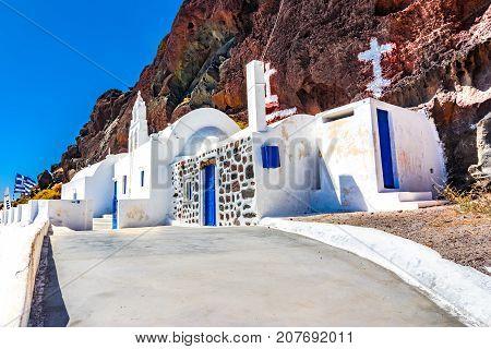 Church Near Red Beach, Akrotiri, Santorini, Cyclades Islands - S