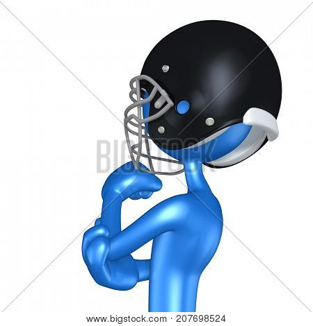 The Original 3D Football Player Character In Thought