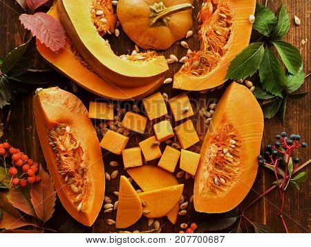 Pumpkin On Wood
