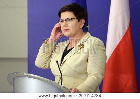 Prime Minister Of Poland Beata Szydlo