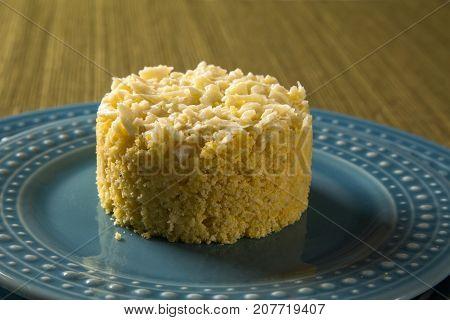 Corn Couscous. Cuscuz Into A Dish