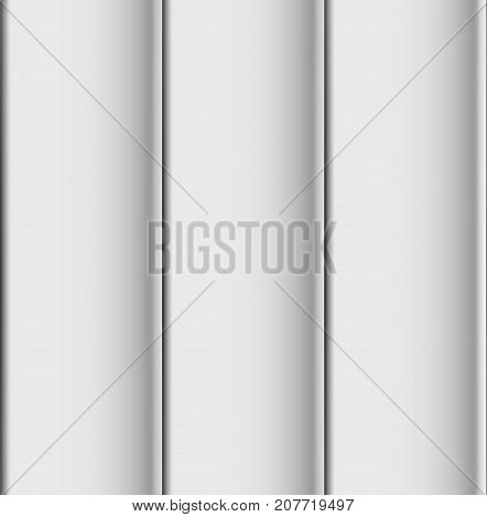 Seamless Realistic White roof sheet in 3D vector