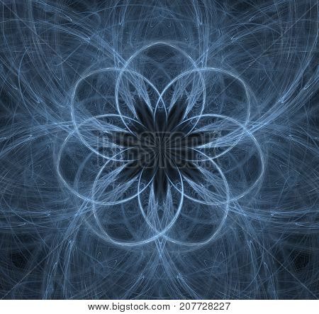 Elementary Particles series. Interplay of abstract fractal forms on the subject of nuclear physics. The collision of elementary particles. Interaction of physical particles. Quantum Vacuum Fluctuations. Higgs boson fractal computer generated abstract back