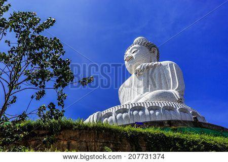 Big Buddha At Sunny Morning In Phuket, Thailand