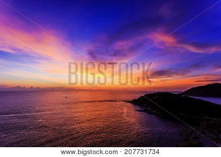 Dramatic Sunset In Promthep, Phuket, Thailand